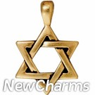 JT238 Gold Star Of David O-Ring Charm