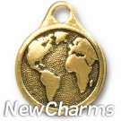 JT246 Gold Earth O-Ring Charm