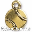 JT309 Gold Baseball O-Ring Charm