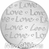 Brushed Silver Handwritten Love Disk