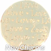 Gold Handwritten Love Disk