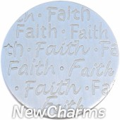 Brushed Silver Handwritten Faith Disk