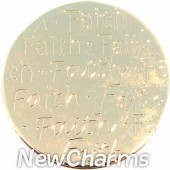 Gold Handwritten Faith Disk