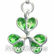 CH018 Green Shamrock Dangle