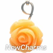 CH211 Big Orange Flower Dangle