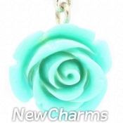 CH209 Light Blue Rose Dangle
