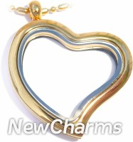 Gold Curvy Heart Necklace