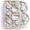 silver letter locket charms