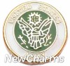 H1112 Army Seal Floating Locket Charm