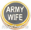 H1133 Army Wife Floating Locket Charm