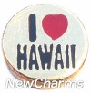 H1197 I Love Hawaii Floating Locket Charm