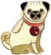 H1445 Pug Floating Locket Charm
