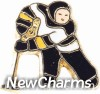 H1458 Hockey Player Floating Locket Charm