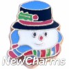 H1486 Snowman Floating Locket Charm