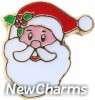 H1547 Santa Claus Floating Locket Charm