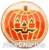 H1623 Jack O Lantern Gold Trim Floating Locket Charm
