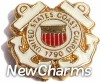 H1671 United States Coast Guard Floating Locket Charm