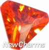 Orange Triangle Floating Locket Charm (5mm wide)