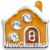 H3110 Gingerbread House Floating Locket Charm