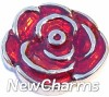 H3501 Red Rose Floating Locket Charm