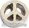 H4009 Peace Sign Silver Floating Locket Charm