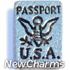 H4037 Silver Passport Floating Locket Charm