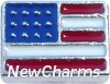 H7005 USA Flag Floating Locket Charm