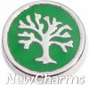 H7201 Tree of Life on Green Floating Locket Charm