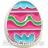 H7606 Pink Easter Egg Floating Locket Charm