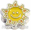 H7619 Sunshine Smile Floating Locket Charm