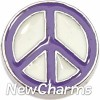 H7663 Purple Peace Sign Floating Locket Charm