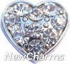 H7703 CZ Clear Heart Floating Locket Charm