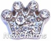 H7708 CZ Clear Crown Floating Locket Charm