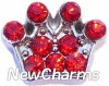 H7718 CZ Red Crown Floating Locket Charm