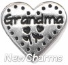 H7874 Grandma Stitch Heart Floating Locket Charm