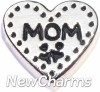 H7876 Stitch Heart Mom Floating Locket Charm