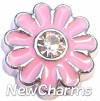 H7924 Big Pink Daisy Floating Locket Charm