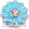 H7925 Big Blue Daisy Floating Locket Charm