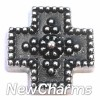 H7955 Folk Art Cross Floating Locket Charm