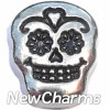 H7958 Sugar Skull Floating Locket Charm