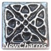 H7959 Celtic Square Floating Locket Charm