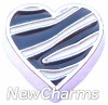 H8000 Zebra Heart Floating Locket Charm