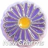 H8088 Blue And Yellow Daisy Floating Locket Charm