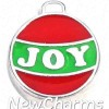 H8289 JOY Christmas Ball Ornament Floating Locket Charm