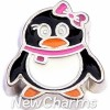 H8310 Chubby Penguin Floating Locket Charm