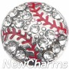 H8347 Silver Bling Baseball Floating Locket Charm