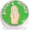 H9129 Scouts Honor Floating Locket Charm
