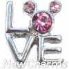 H9137 Love With CZ Mouse Ears Floating Locket Charm