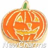 H9737 Jack-O-Lantern Pumpkin Floating Locket Charm