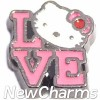 H9739 Love With Hellow Kitty Floating Locket Charm